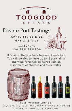 5/16 Private Port Tasting
